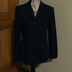 Casual Corner navy blazer; size 6